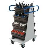 WTS Тележка модульная двусторонняя, ШхГхВ 480х700х1140 мм, ручка цвет RAL 5010 синий