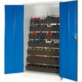 WTS Шкаф с распашными дверцами, ВхШхГ 1015х620х1950 мм, цвет RAL 7035 / 5010