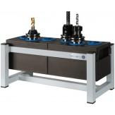 WTS Подставка для инструментов стационарная, с 2 держателями, ДхШхВ 440х205х200 мм, цвет RAL 7035