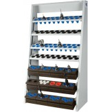 WTS Подставка модульная для инструментов, ВхШхГ 1740x1019x513 мм, цвет RAL 7035/RAL 5010