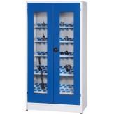 WTS Шкаф модульный с распашными прозрачными дверцами, ВхШхГ 1950x1018x620 мм, цвет RAL 7035/RAL 5010