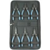 ATORN Кусачки фронтальные для работ с электроникой (наб. из 6 шт.), режущие кромки без скоса
