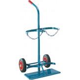 Тележка с цельнорезиновыми колесами для транспортировки стальных баллонов d 210 мм 20 литр