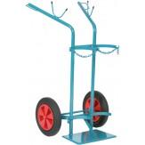 Тележка с цельнорезиновыми колесами для транспортировки 2-х стальных баллонов d 250 мм 50 литр