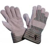 Перчатки защитные из спилковой воловьей кожи для работ со значительной механической нагрузкой, на подкладке, тыльная сторона из текстиля, размер 11, DIN EN 338