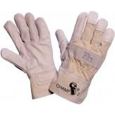 Перчатки защитные из цельной воловьей кожи для работ со значительной механической нагрузкой, полностью на подкладке, тыльная сторона из текстиля, размер 10,5, DIN EN 338