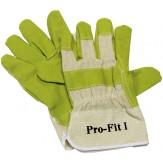 Перчатки защитные из искусственной кожи для работ со значительной механической нагрузкой, тыльная сторона из текстиля, размер 10