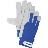 ORION Перчатки для монтажных работ из свиной кожи с текстильными дышащими вставками, размер 8, DIN EN 388, класс защиты 2