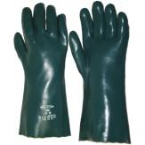 Перчатки защитные для работы с химикатами, подкладка из хлопка, размер 10, длина 28 см, класс защиты 3, цвет зеленый