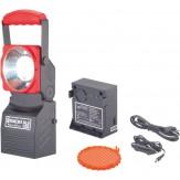 Фонарь светодиодный, модель SL 5 LED, с отдельным аккумулятором, встроенным зарядным устройством, зарядыми кабелями