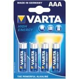 VARTA Батарейки HIGH ENERGY Micro (упак. 4 шт.) 1,5 V щелочно-марганцевые