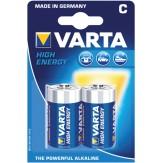 VARTA Батарейки HIGH ENERGY Baby (упак. 2 шт.) 1,5 V щелочно-марганцевые