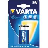 VARTA Батарейки HIGH ENERGY E-Block (упак. 1 шт.) 9 V щелочно-марганцевые