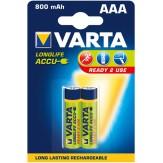 VARTA Аккумуляторы Micrо (упак. 2 шт.) 1,2 В, 800 mAH, никель-кадмиевые