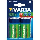 VARTA Аккумуляторы Mono (упак. 2 шт.) 1,2 В, 3000 mAH, никель-кадмиевые