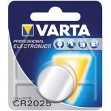 VARTA Элемент питания пуговичный CR 2025, в блистерной упаковке, 3 В, 170 mAH