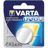 VARTA Элемент питания пуговичный CR 2430, в блистерной упаковке, 3 В, 280 mAH