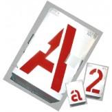 GRAVUREM Шаблоны для маркировки: цифры 0-9 (наб. из 10 шт.), высота шрифта 40 мм