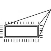 PFERD Напильник алмазный игольчатый плоский острый, зерно D 91