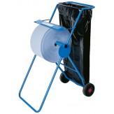 Диспенсер для бумажных полотенец для протирания, металлич. корпус, синий