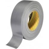 3M 389 Лента клейкая универсальная из ткани, устойчива к УФ, серебристая, 50 мм х 50 м