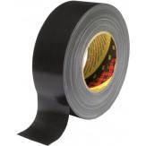 3M 389 Лента клейкая универсальная из ткани, устойчива к УФ, черная, 50 мм х 50 м
