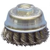 ATORN Щетка чашечная d 65 мм, M14 скрученная стальная проволока 0,5 мм