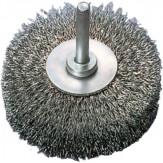 ATORN Щетка дисковая d 20 мм, хвостовик 6 мм волнистая стальная проволока 0,15 мм