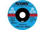 ATORN диск обдирочный по металлу 115x6x22 мм, твердое исполнение