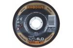 RHODIUS диск обдирочный, нержавеющая сталь 125х6х22,2 мм изогнутые