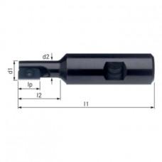 ATORN Головка фрезерная резьбонарезная, Z1, сталь, размер 12, 9,5 мм, HB