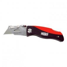 ERDI Нож складной с пластмассовой рукояткой и 5 сменными лезвиями в рукоятке