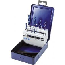 ATORN Сверла спиральные (наб.) HSSE-TINALOX 1-10 мм шаг 1,0 мм в футляре