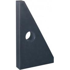 JFA Угольник контрольный 90° 800 x 500 мм DIN 875-2 GG 000 из твердой горной породы, треугольной формы