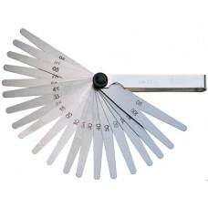 ORION Щупы (наб. из 20 пластин) 0,05 - 1,0 мм складываются в никелированный держатель, DIN 2275