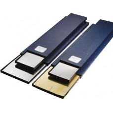 Фольга подкладная в прецизионном исполнении из хромникелиевой стали (наб. из 9 шт.) 0,02 - 1,00 мм, 100мм x 500мм