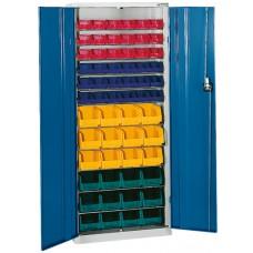 HK Шкаф стеллажный с дверцами, Модель 2 с ящиками для открытого хранения