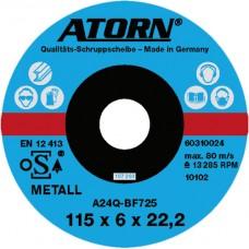 ATORN диск обдирочный по металлу 125x6x22 мм, твердое исполнение