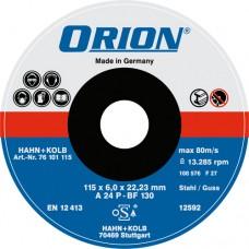 ORION диск обдирочный по металлу 115x6x22 мм, твердое исполнение